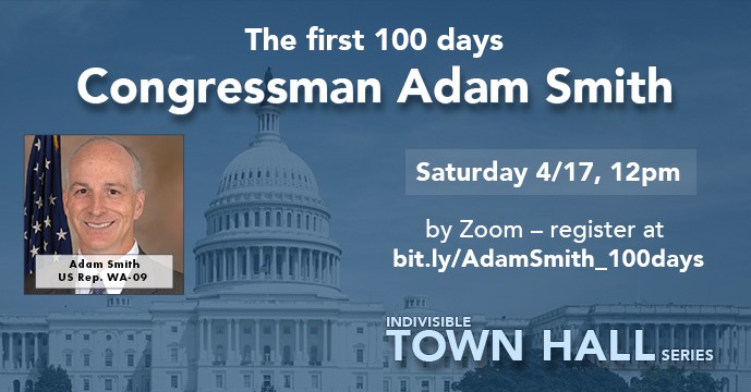 Indivisible Town Hall with Rep. Smith – The first 100 days